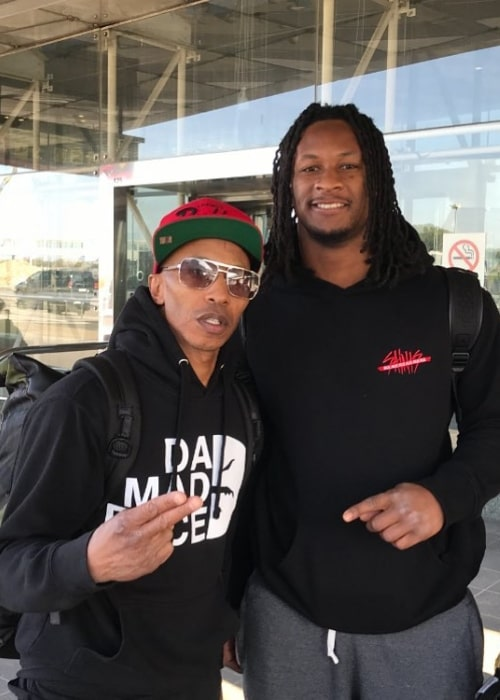Fredro Starr (Left) as seen while posing for the camera along with footballer Todd Gurley in March 2019