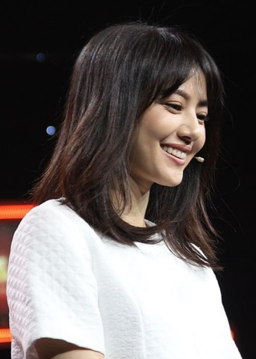 Gao Yuanyuan as seen during the filming of the talk show 'Art Life'