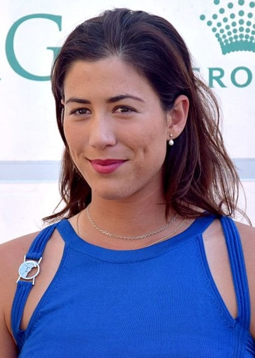 Garbiñe Muguruza as seen in January 2016