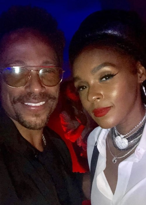 Gary Dourdan as seen in a selfie with singer and songwriter Janelle Monáe in The West Hollywood EDITION in November 2019