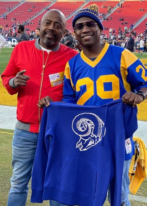 Guy Torry as seen in a picture with actor, radio host, and comedian Donnell Rawlings in November 2019