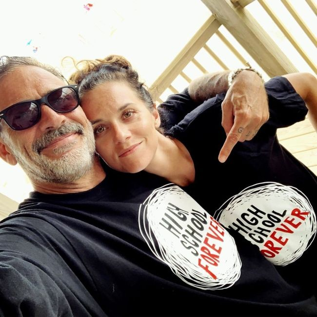 Hilarie with her husband Jeffrey Dean Morgan as seen in August 2019
