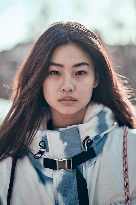 HoYeon Jung at Milan Fashion Week in February 2019