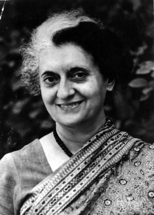 Indira Gandhi as seen in a picture taken in taken in the past