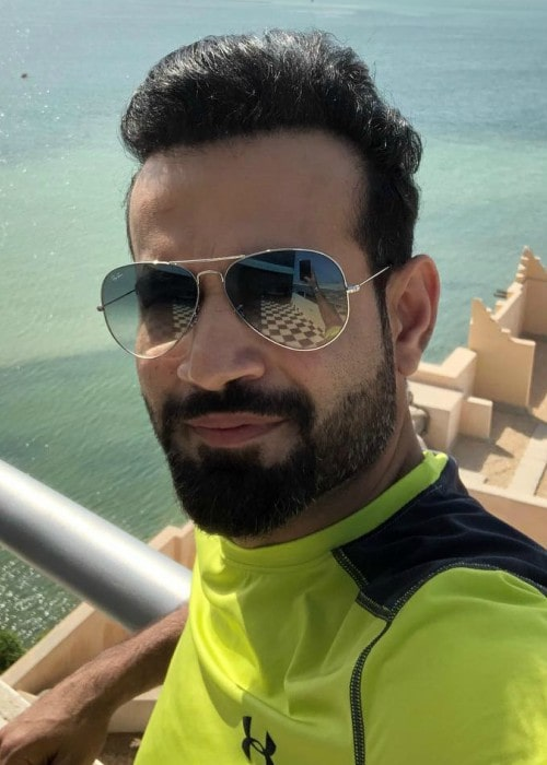 Irfan Pathan in an Instagram selfie as seen in May 2018