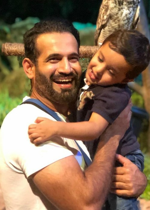 Irfan Pathan with his son as seen in November 2019