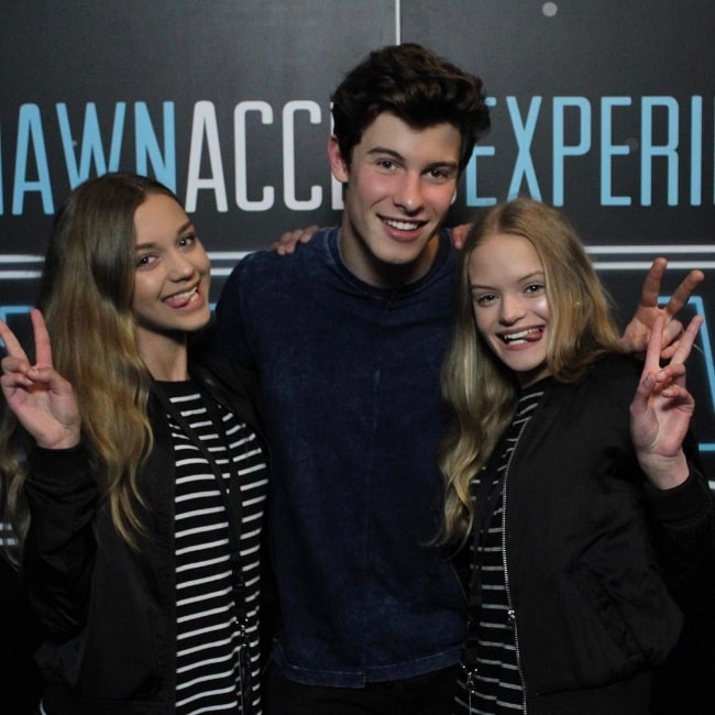 Isa Isanina (Left) as seen while posing for a picture with Shawn Mendes and Nina Isanina in May 2017