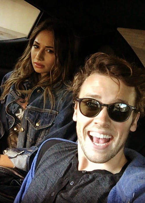 Jack Cutmore-Scott and Meaghan Rath in a selfie in April 2016