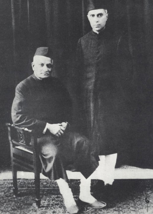 Jawaharlal Nehru as seen in a picture with his father Motilal Nehru in 1929