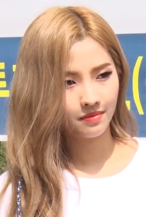 Jeon So-yeon as seen at the advanced voting for the 2018 South Korean by-elections on June 8, 2018