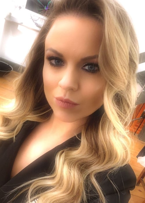Joanne Clifton as seen in a selfie taken in December 2019
