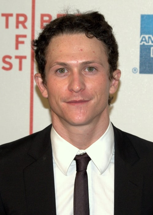 Jonathan Tucker as seen while smiling for a picture at the 2009 Tribeca Film Festival for the premiere of 'An Englishman in New York'