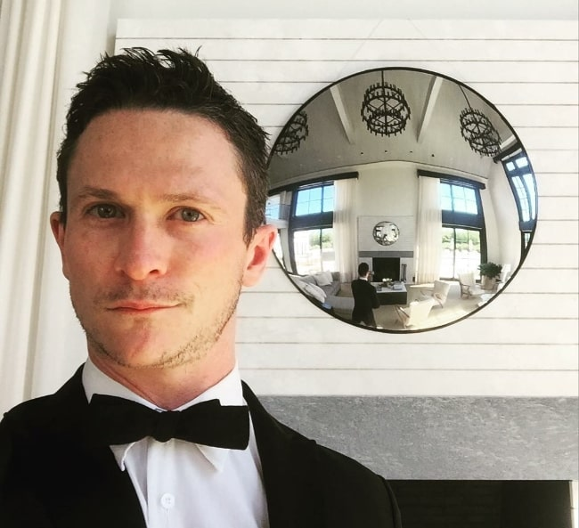 Jonathan Tucker as seen while taking a selfie in Bridgehampton, New York, United States in June 2016