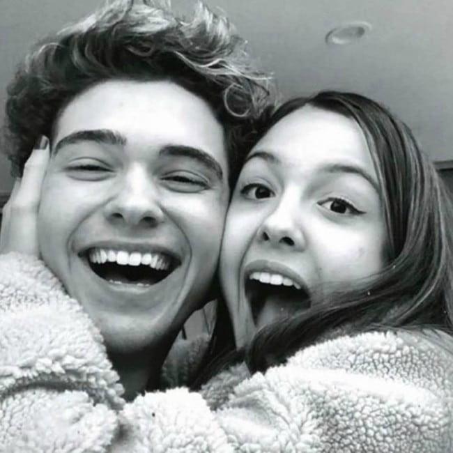 Joshua Bassett and Olivia Rodrigo as seen in 2019