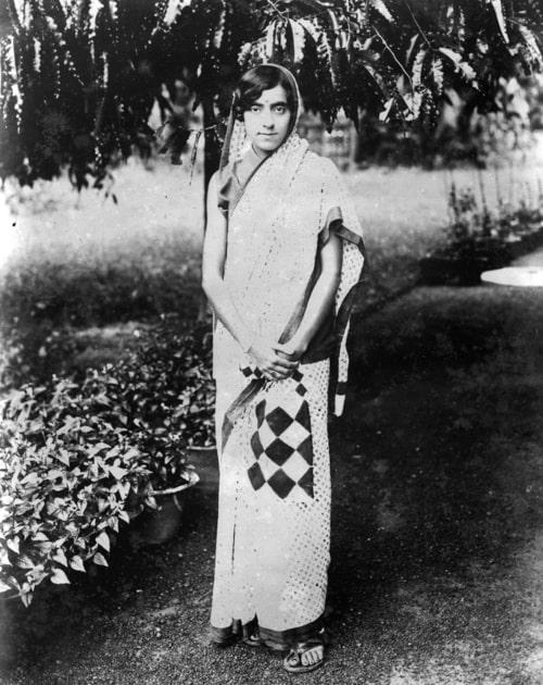 Kamala Nehru as seen in a picture taken in 1930