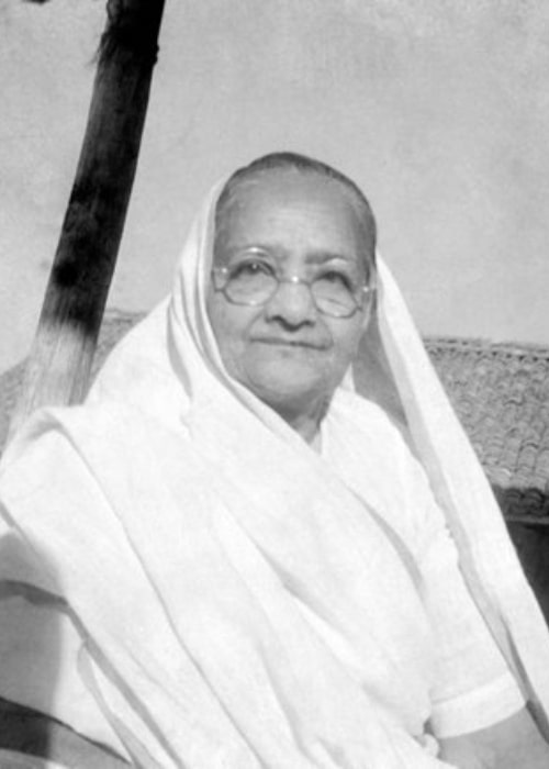 Kasturba Gandhi as seen in a picture taken during the 1940s