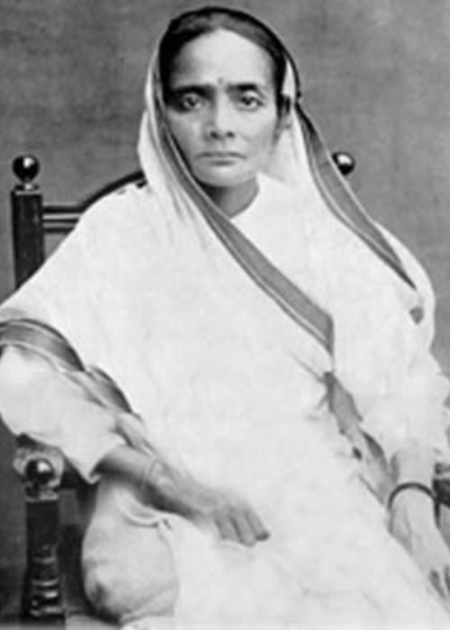 Kasturba Gandhi as seen in a picture taken in the past