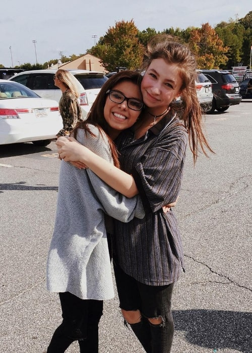 Katelyn Nacon (Right) as seen while posing for a picture along with her friend in October 2016