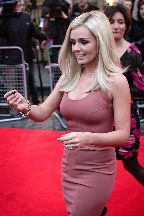 Katherine Jenkins signing autographs outside the Royal Albert Hall in 2011
