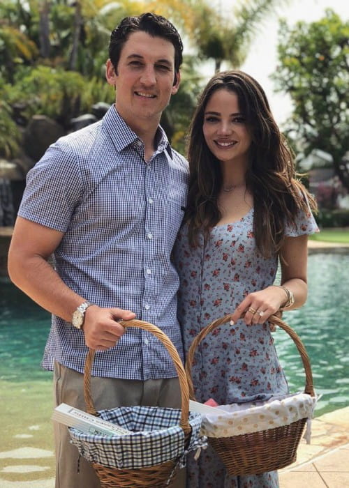 Keleigh Sperry and Miles Teller as seen in April 2018