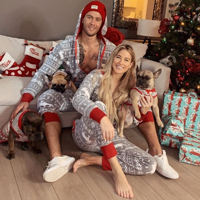 Kelly Kelly with her boyfriend as seen in December 2019