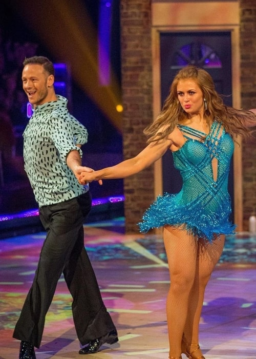 Kevin Clifton as seen in a picture with actress and singer Maisie Louise Smith during a dance routine on Strictly Come Dancing in November 2019