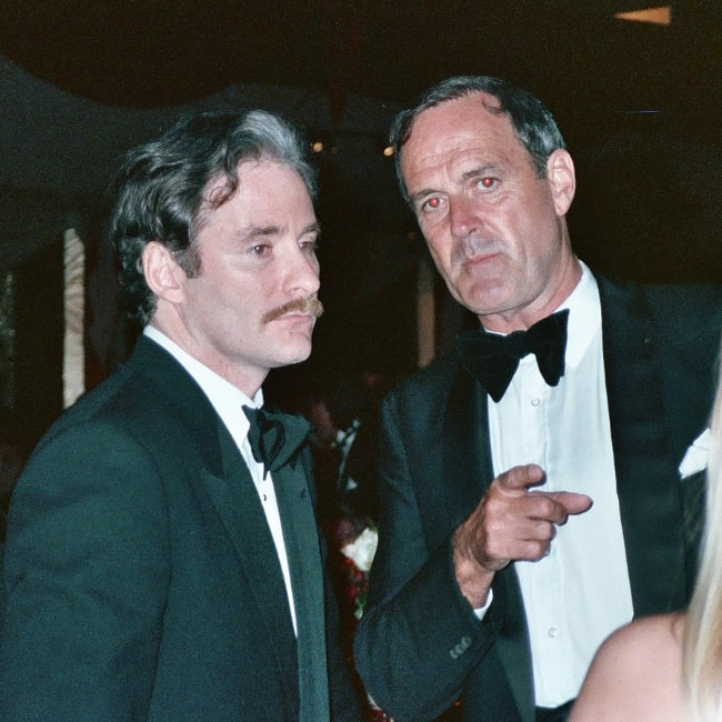Kevin Kline (Left) as seen along with John Cleese at the Governor's Ball party after the 1989 Academy Awards on March 29, 1989
