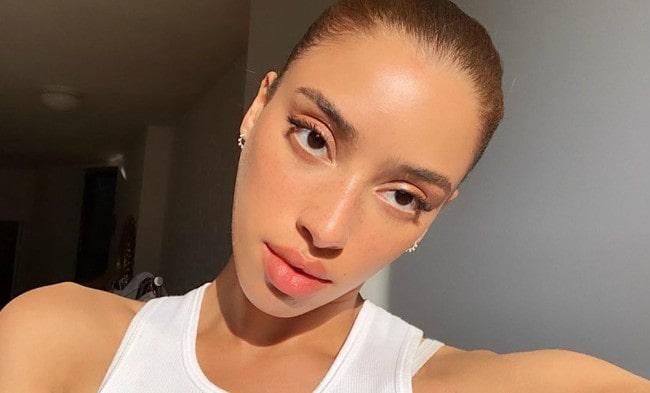 Khadijha Red Thunder in an Instagram selfie as seen in June 2019