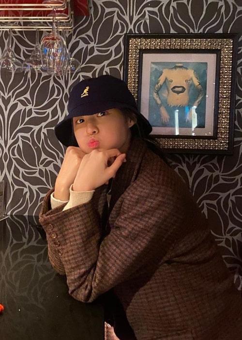 Kim Seol-hyun as seen in a picture taken in December 2019