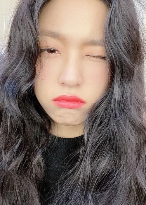 Kim Seol-hyun as seen in a selfie taken in December 2019