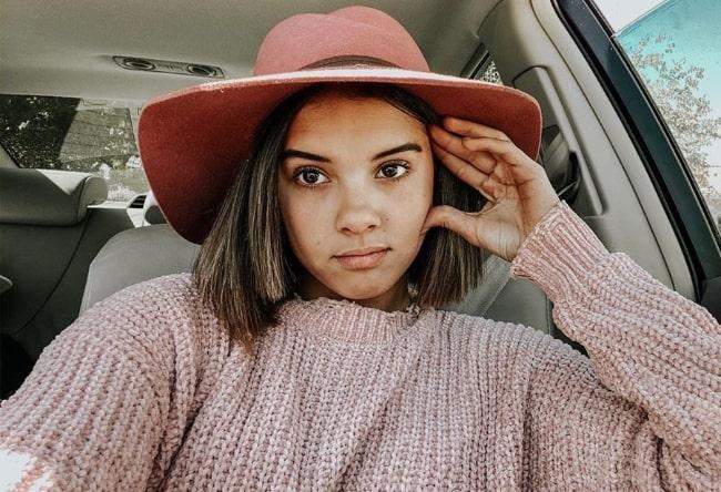 Klailea Bennett as seen while taking a selfie in October 2019