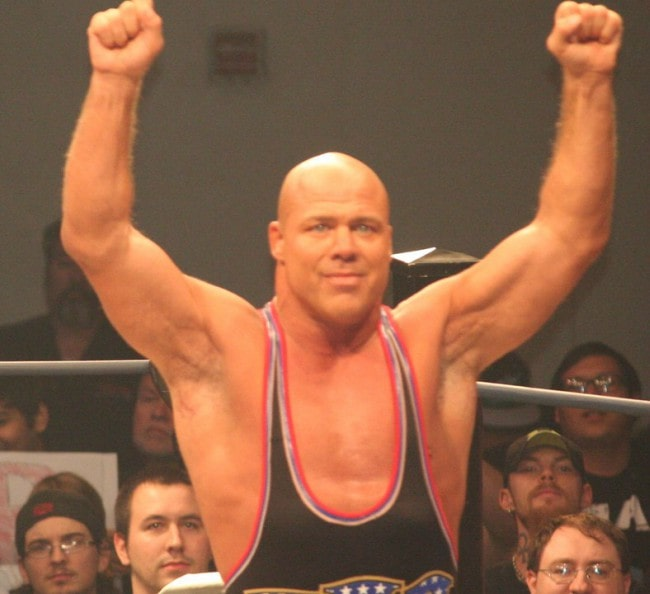 Kurt Angle during a match in October 2014