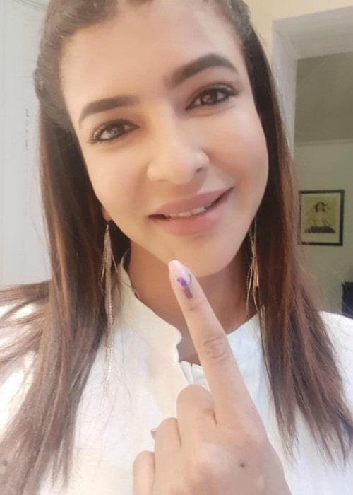 Lakshmi Manchu in an Instagram selfie as seen in April 2019