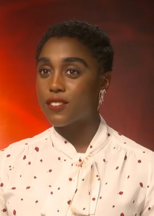 Lashana Lynch as seen at an interview for 'Captain Marvel' in March 2019