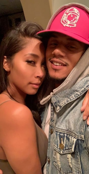 Lil' Fizz as seen in a loved-up picture with Apryl Jones in October 2019