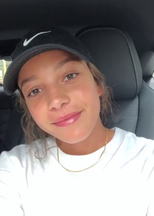Mallory Pugh as seen in a screenshot taken from a video that she uploaded to her Instagram in July 2019