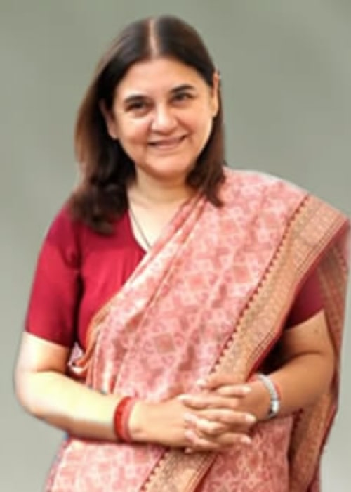 Maneka Gandhi as seen in a picture taken at the Trailer launch of 'It's Entertainment' on May 20, 2014