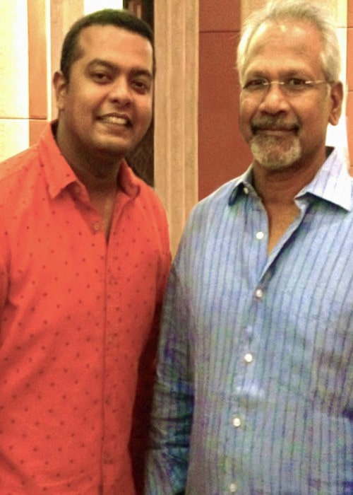 Mani Ratnam (Right) and Prakash Nikki as seen in December 2013
