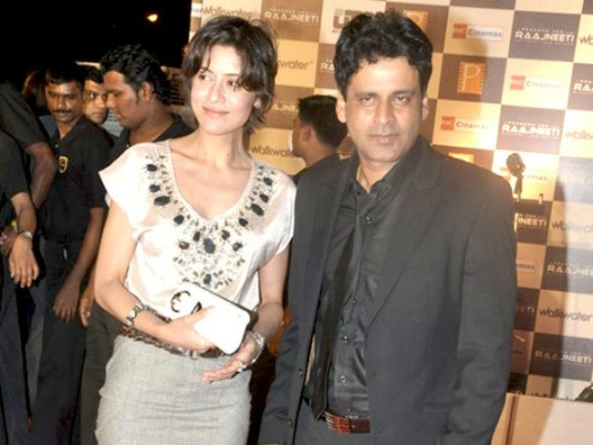 Manoj Bajpayee and Neha Bajpayee as seen in June 2010