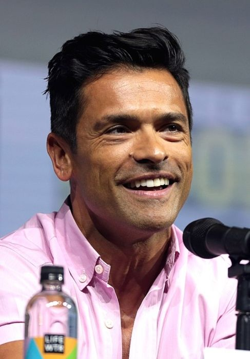 Mark Consuelos speaking at the 2018 San Diego Comic-Con International in California