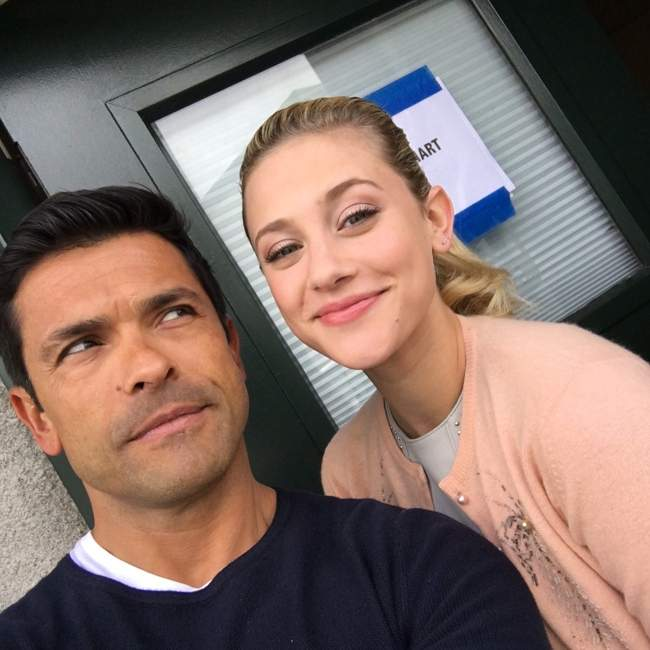Mark seen with his Riverdale co-star Lili Reinhart in May 2017