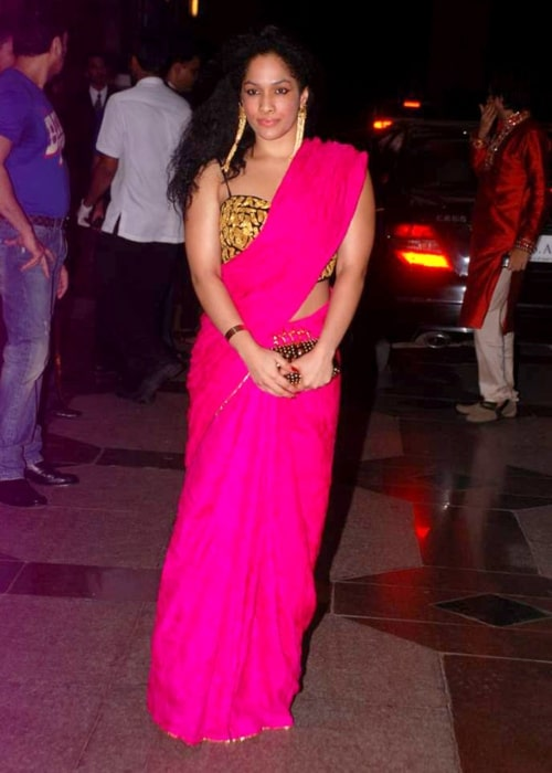 Masaba Gupta in a picture taken at Esha Deol's sangeet ceremony on July 7, 2012