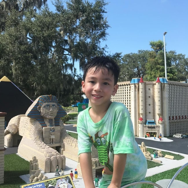 Mateo Moy as seen in a picture taken at Legoland Florida in September 2018