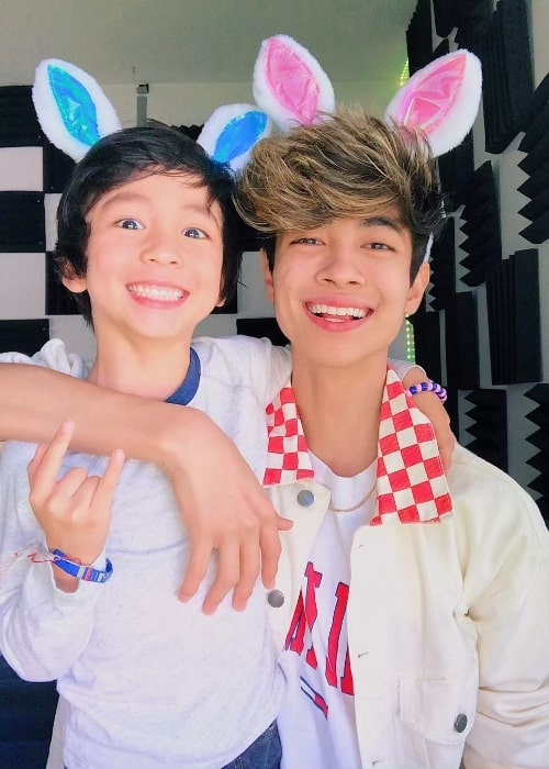 Mateo Moy as seen while smiling for a picture alongside his older brother, Sebastian Moy, in Florida, United States in April 2019