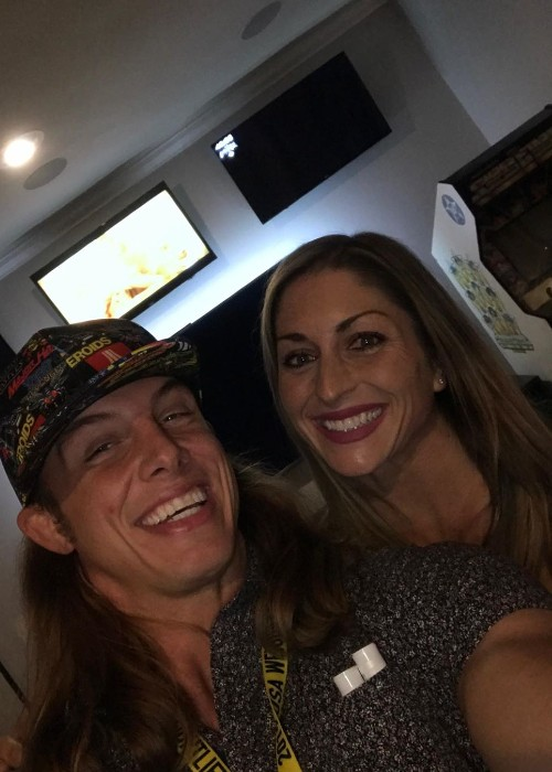 Matt Riddle with his wife as seen in November 2019