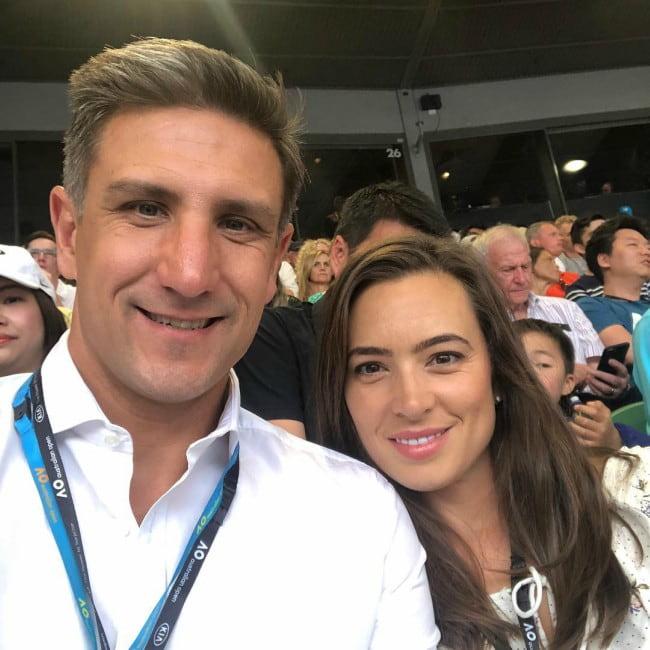 Matthew Pavlich and Lauren in a selfie in January 2019