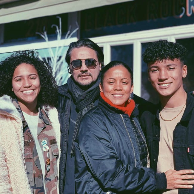 Maximo Rivano with his family as seen in November 2019