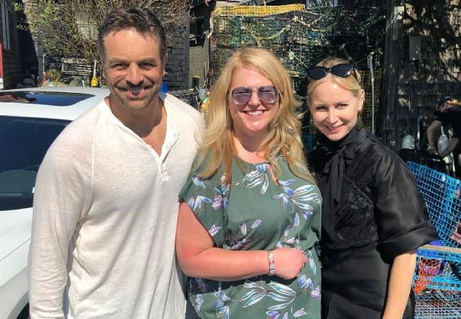 Megan Dodds (Right), Kristen Ashley (Center), and Chris McKenna as seen in September 2019
