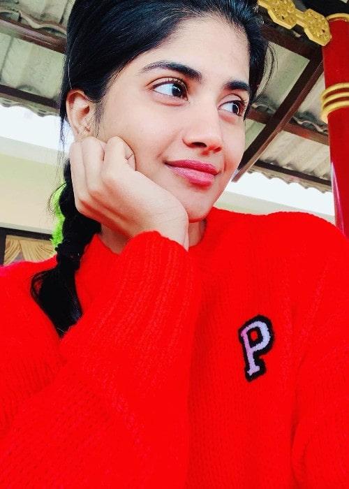 Megha Akash as seen in July 2019