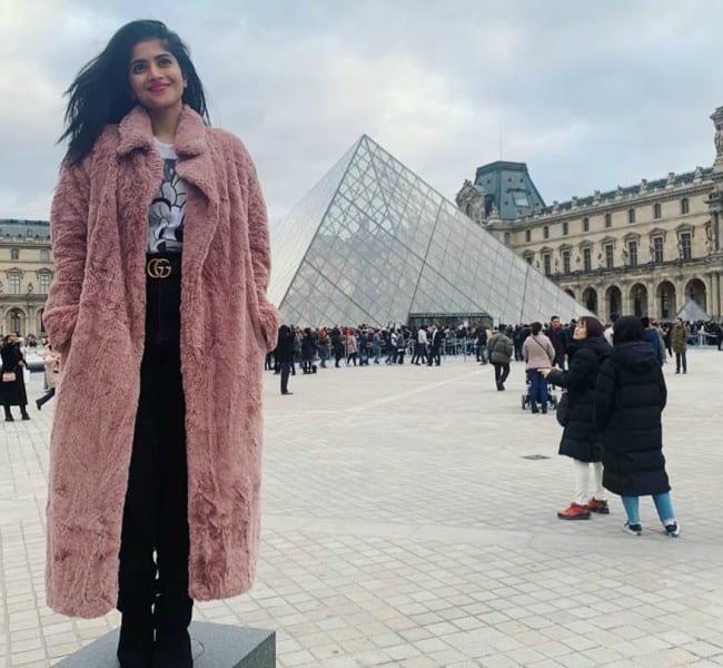 Megha Akash in an Instagram post as seen in December 2019